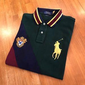 POLO RALPH LAUREN Gold Trim Big Pony Polo